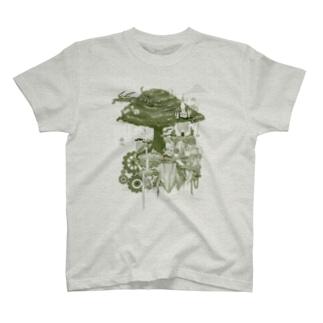 ヌートンドット絵(モノクロ) T-shirts
