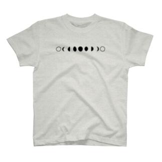 朔望 白 よこ T-shirts