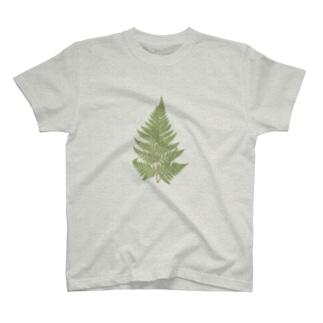シダ <アンティーク・ボタニカルアート> T-shirts