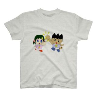 ミニわんぱ君としおりちゃん T-shirts