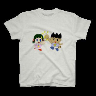 WANPA's STOREのミニわんぱ君としおりちゃん Tシャツ