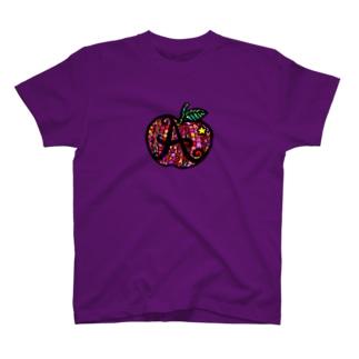 カラフル林檎 T-shirts
