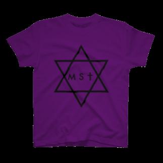 masatoのmasato#0 黒ヘキサグラムTシャツ T-shirts