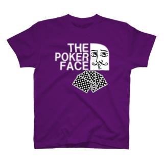 ポーカーフェイス KING T-shirts