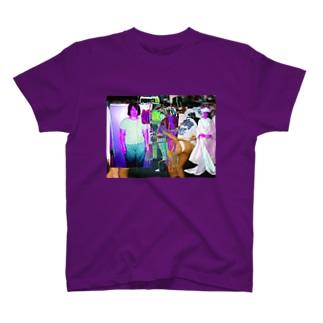 色彩感覚コラージュ T-shirts