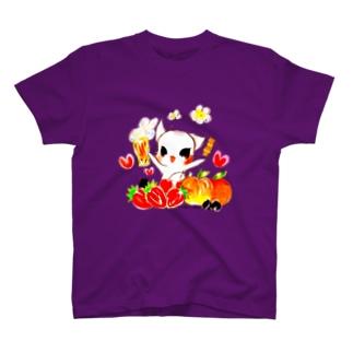 【ビールねこ】フルーツMIX.ver T-shirts