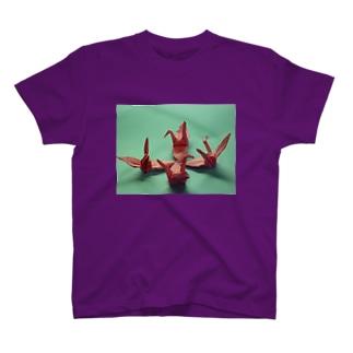 ジャパニーズオリガミ T-shirts