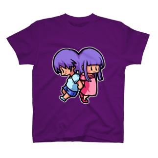バイオレットなふたごさん(双子座) T-shirts