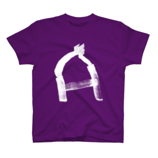 coroganuのalphabet A white T-shirts