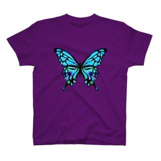 chicodeza by suzuriのアートな手描きの蝶々Tシャツ T-shirts