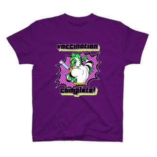 ワクチン接種完了プロレスTシャツ T-Shirt