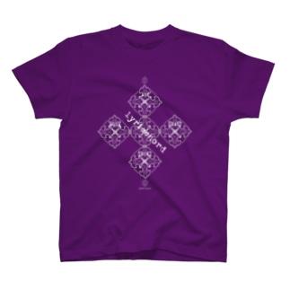 lyricchordシード白ライン/ドローイングアート T-shirts