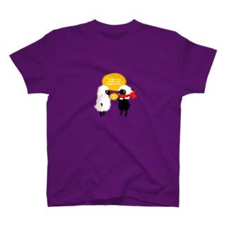 風邪をひいたひつじ T-shirts