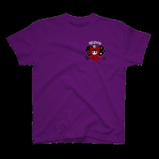 bAbycAt イラストレーションのCOTTON BABY(デビル) T-shirts