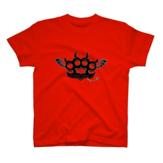Ryoku-Knuckle devil b-red Tシャツ