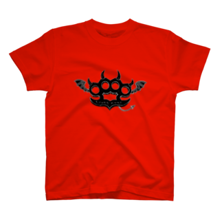 Ryoku のRyoku-Knuckle devil b-red Tシャツ