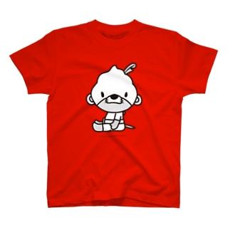 カワマジー座り(モノクロ) Tシャツ