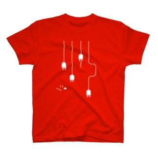 plug in ! (No.1)(濃色生地用) Tシャツ