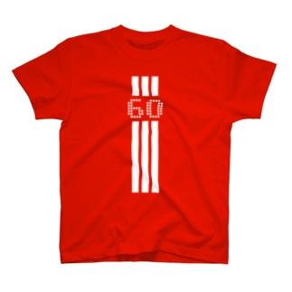 60歳 3本線 T-shirts