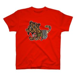 歯がドリルの虎 T-shirts