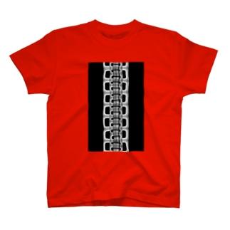 zipper(大)black T-shirts