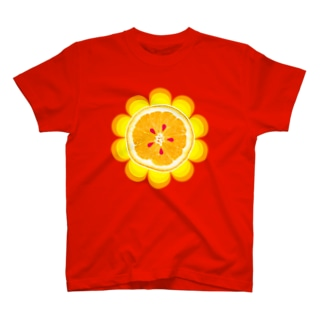 オレンジと花びら T-shirts