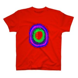 突貫汚染(背景透過) T-shirts