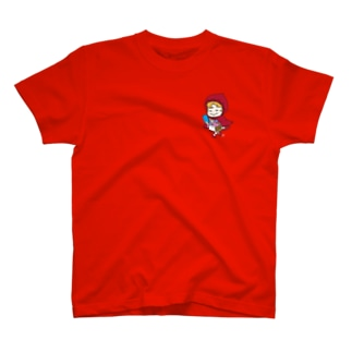 歩きスマホ赤ずきん T-shirts
