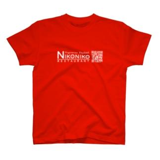 nikonikoQRグッズ(白) T-shirts