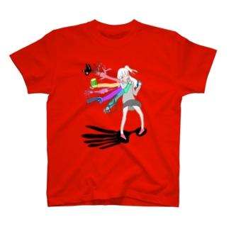 黒と美肉のワンダーランド アイスピック・アタラクシア T-shirts