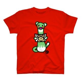 ユーモアたっぷりフェレットさん T-shirts