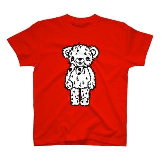 Cɐkeccooのクマのブラウン-シンプル(うさぎのラビのお友達) T-shirts