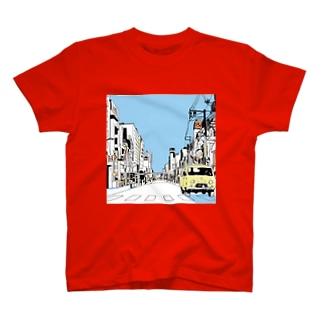 かわののっち AM|PM青 T-shirts
