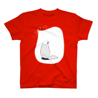 木ノ下商店の猫とリボンとちょうちょ T-shirts