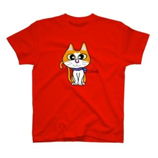 マフラーを巻いた猫シリーズ T-shirts