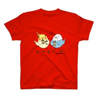 ふたりでタピオカ T-shirts