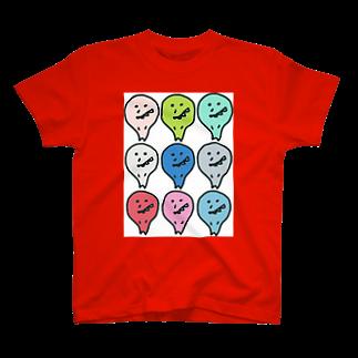 あぶー&ててのカラベビ T-shirts
