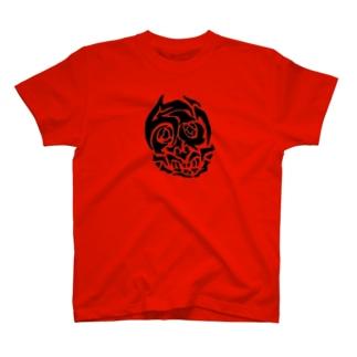 どろどろどくろ(赤/黒) T-shirts