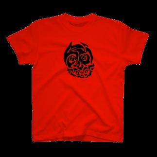 泥濘大魔王サイケのどろどろどくろ(赤/黒) T-shirts