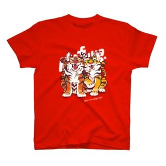 TIGER BROS(red) T-shirts