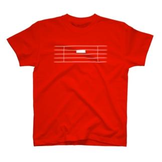 全休符(白字) T-shirts