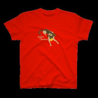 edamametoichiのpepa&josias ロゴ色違い T-shirts
