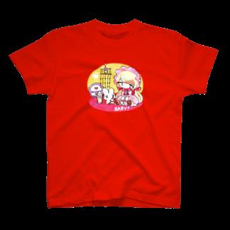 いちご爆弾の子育てうさぎ T-shirts