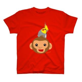 2016 おさるモンキー オカメインコのせ T-shirts