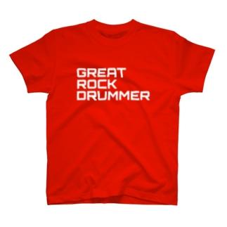 GRD Tシャツ ロゴ赤 T-shirts