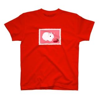 大イチゴとこうさぎ T-shirts