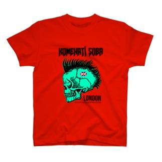 【米八そば】ロンドン支店(赤)Tシャツ T-shirts