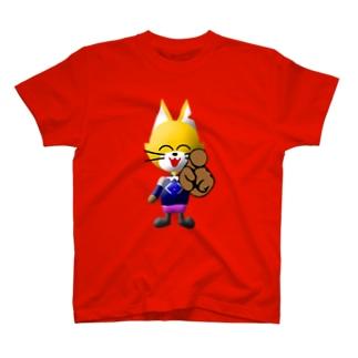 カウントダウン指差しキャットC T-shirts