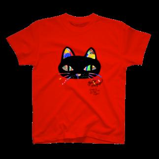 ailurophiliaのgato negro T-shirts