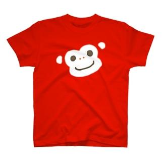 ほんわか通りのおさるさん(BIG FACE) T-shirts